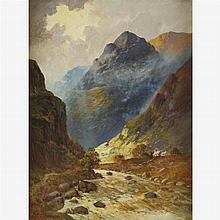 ALFRED FONTVILLE DE BREANSKI, JR., (BRITISH 1877-1955), HIGHLAND LANDSCAPE