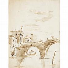 MANNER OF FRANCESCO GUARDI, (ITALIAN 1712-1793), VENETIAN VIEWS WITH FIGURES