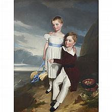 CIRCLE OF WILLIAM OWEN, (BRITISH 1769-1825), THE CHILDREN OF SIR WILLIAM PARSONS IN A LANDSCAPE
