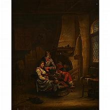 MANNER OF ADRIAEN JANSZ VAN OSTADE, (DUTCH 1610-1685), TAVERN INTERIOR