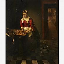 FOLLOWER OF JACOB VAN SPREEUWEN, (DUTCH B. 1611), KITCHEN INTERIOR