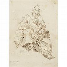 CIRCLE OF DONATO CRETI, (ITALIAN 1671-1749)WOMAN AND CHILD