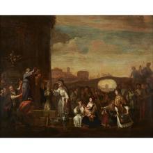 DUTCH SCHOOL, (17TH CENTURY), PAUL AND BARNABUS AT LYSTRA