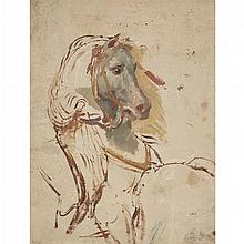 ATTRIBUTED TO EUGÈNE DELACROIX, (FRENCH 1798-1863),