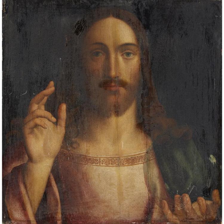 Jesus Christ Painted On House