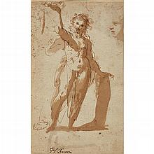 ATTRIBUTED TO FEDERICO BAROCCI, (ITALIAN 1528-1612), STUDY OF CHRIST HOLDING A CROWN OF THORNS; AND A PROFILE