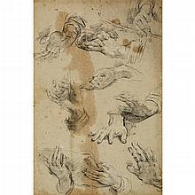 ATTRIBUTED TO GUIDO RENI, (ITALIAN 1575-1642), STUDY OF HANDS