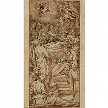 GIOVANNI BATTISTA DELLA ROVERE, (ITALIAN 1561-1630), DEATH OF A SAINT