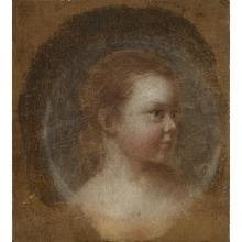 BRITISH SCHOOL, (18TH-19TH CENTURY), PORTRAIT OF A YOUNG WOMAN IN THREE-QUARTER PROFILE; and PORTRAIT OF A LADY WITH HEADDRESS IN PR...