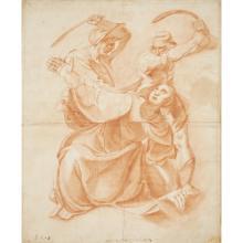 BRITISH SCHOOL, (18TH CENTURY), THE MARTYRDOM OF A FEMALE SAINT; THE DEPOSITION