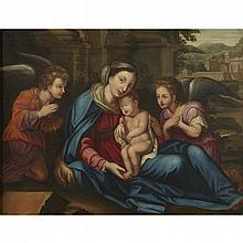 MANNER OF FRANCESCO ALBANI, (ITALIAN 1578-1660)VIRGIN AND CHILD WITH SAINTS