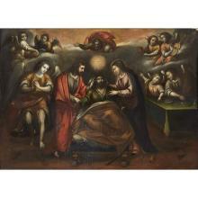 SPANISH SCHOOL, (18TH CENTURY), DEATH OF SAINT JOSEPH