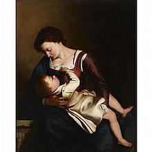 MANNER OF ARTEMISIA GENTILESCHI, (ITALIAN 1593-1652), MADONNA AND CHILD