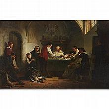 CHARLES MEER WEBB, (BRITISH 1830-1895), SETTLING ACCOUNTS