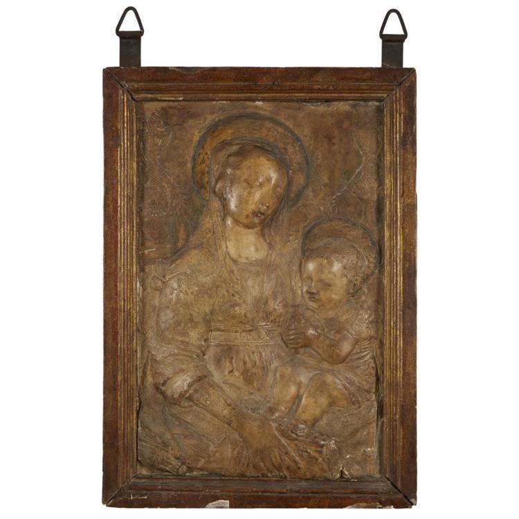 MANNER OF ANTONIO ROSSELLINO, (ITALIAN 1427-1479), VIRGIN AND CHILD