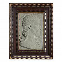 MANNER OF ROMOLO DI FRANCESCO (ROMOLO DEL TADDA) FERRUCCI, (ITALIAN 1544-1621), PROFILE PORTRAIT OF CHRIST