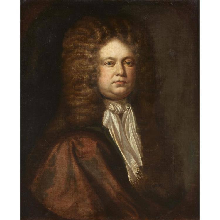 BRITISH SCHOOL, (17TH-18TH CENTURY), PORTRAIT OF A GENTLEMAN, HALF-LENGTH