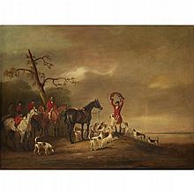 JOHN E. FERNELEY, (BRITISH 1782-1860), THE QUORN HOUNDS WITH SIR HARRY GOODRICH AND GEORGE MOUNTFORD