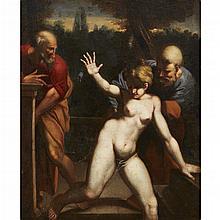 FOLLOWER OF AGOSTINO CARRACCI, (ITALIAN 1557-1602), SUSANNA AND THE ELDERS