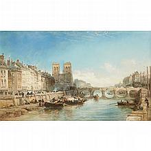 JAMES WEBB, (BRITISH 1825-1895), PARISIAN LANDSCAPE