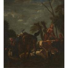 FOLLOWER OF PHILIP PETER ROOS, (GERMAN 1657-1706), PASTORAL SCENE