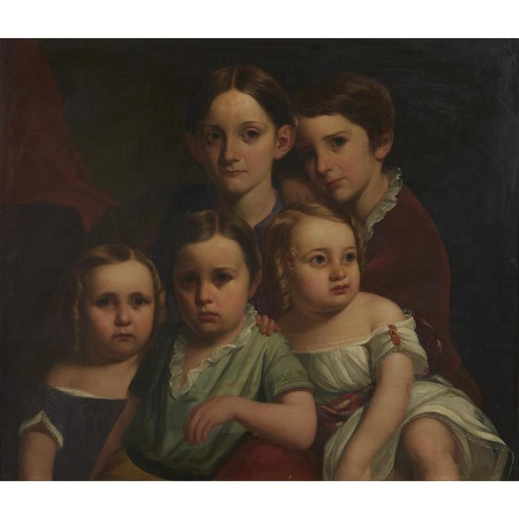 CONTINENTAL SCHOOL, (19TH CENTURY), FAMILY PORTRAIT