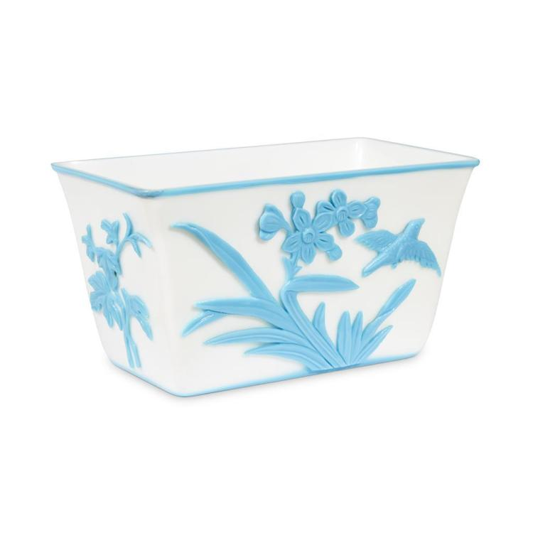 Da Form 2446 A Chinese Sky Blue Overlay White Glass Rectangular ...