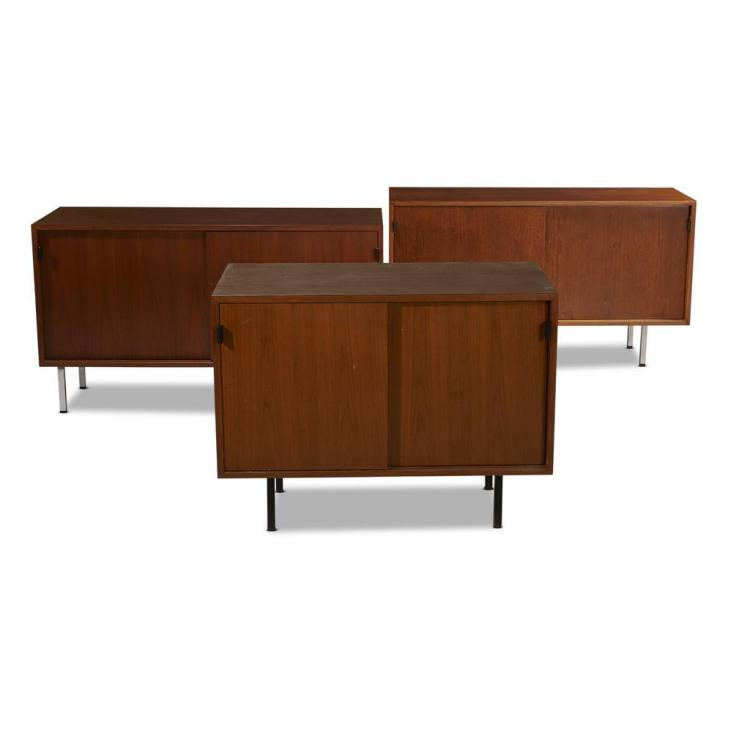 Florence Knoll American B 1917 Three Two Door Cabinets