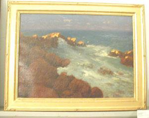HUGH HUNTINGTON HOWARD (American 1860-1927) 'SUN ON ROCKS'