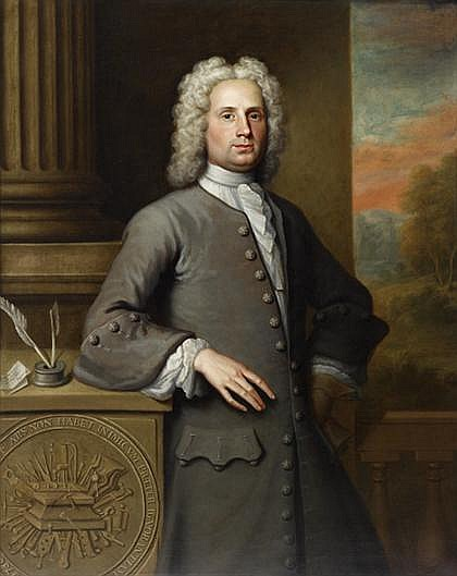 WILLIAM VERELST, (BRITISH FL. 1734-CA. 1756), PORTRAIT OF THE ARCHITECT, MASTER OF THE STEELYARDS, AND PHILANTHROPIST-THEODORE JACOBSEN