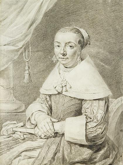 CORNELIS DE VISSCHER II, (DUTCH 1586-1658), PORTRAIT OF A SEATED LADY