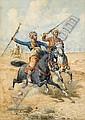 GIUSEPPE GABANI, (ITALIAN 1846-1899), ARAB HORSEMEN, Giuseppe Gabani, Click for value