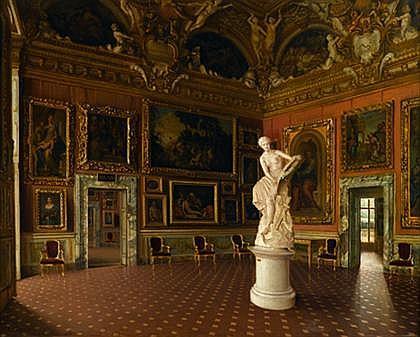 SANTI CORSI, (ITALIAN EARLY 20TH CENTURY), THE SATURN ROOM, PALAZZO PITTI, FLORENCE