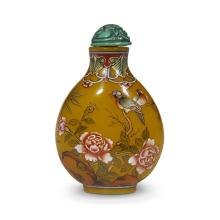 A Chinese enameled glass snuff bottle,