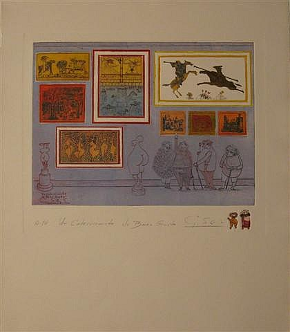 GUILLERMO SILVA SANTAMARIA, (COLUMBIAN 1921-2007) SEVEN COLOR ETCHINGS WITH EMBOSSING,