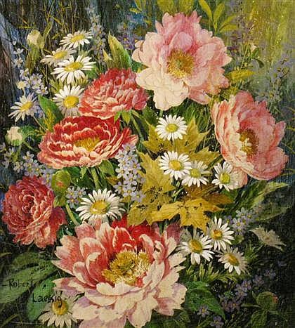 ROBERT H. LAESSIG, (AMERICAN, B. 1913), SUMMER FLOWERS
