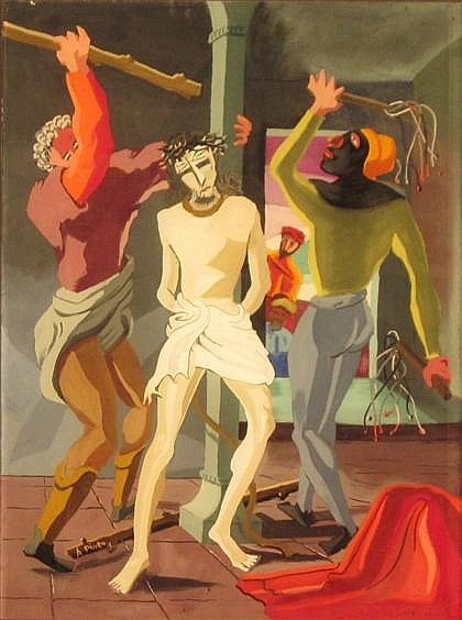 ANGELO PINTO, (AMERICAN 1908-1994), THE SCOURGING OF CHRIST
