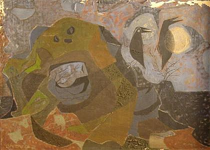 EDWARD ARCENIO CHAVEZ, (AMERICAN 1917-1995), TWO BLACKBIRDS