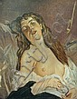 CHARLES CHAPLIN, (FRENCH 1825-1891), MINIATURE PORTRAIT OF A RECLINING WOMAN