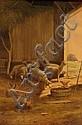 REUBEN LE GRANDE JOHNSTON, (AMERICAN 1851-1918), SHEEP AND CHICKENS, Reuben Le Grande Johnston, Click for value