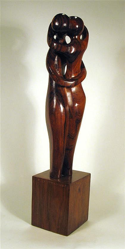 PETER LIPMAN-WULF, (AMERICAN 1905-1993), COUPLE EMBRACING