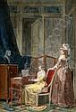 JEAN-BAPTISTE MALLET, (FRENCH 1759-1835), LA LECON DE MUSIQUE, Jean-Baptiste Mallet, Click for value
