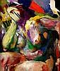 ARTHUR BEECHER CARLES, (AMERICAN 1882-1952), ABSTRACT FEMALE NUDE, Arthur Beecher Carles, Click for value