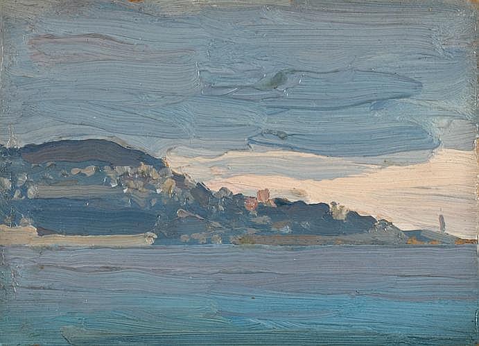 MORTON LIVINGSTON SCHAMBERG, (AMERICAN 1881-1918), UNTITLED - ON THE COAST
