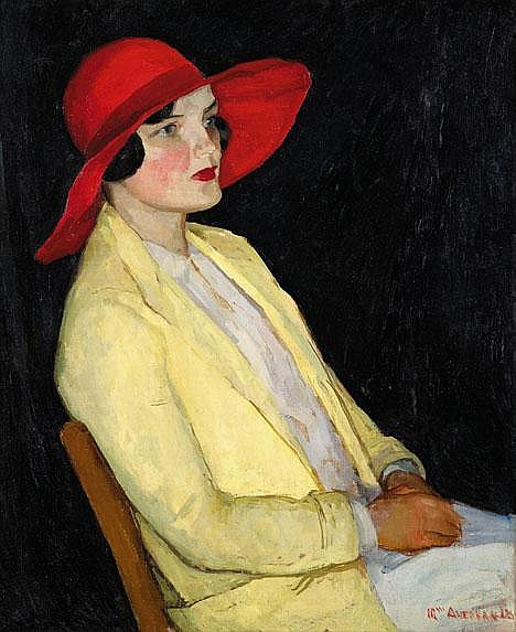 WILLIAM AUERBACH-LEVY, (AMERICAN 1889-1964), THE RED HAT