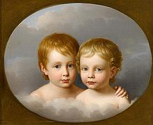 AMERICAN SCHOOL, (19TH CENTURY), DOUBLE PORTRAIT