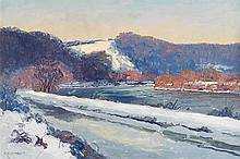 "ALFRED NUNAMAKER, (AMERICAN 1915-1988), ""BELOW LUMBERVILLE"""