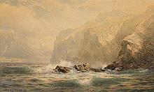WILLIAM TROST RICHARDS, (AMERICAN 1833-1905), ROCKY COAST
