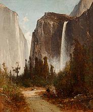 THOMAS HILL, (AMERICAN 1829-1908), BRIDAL VEIL FALLS, YOSEMITE
