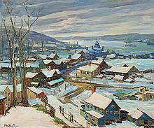 PETER BELA MAYER, (AMERICAN 1887-1992), VIEW OF LONG ISLAND SOUND IN WINTER